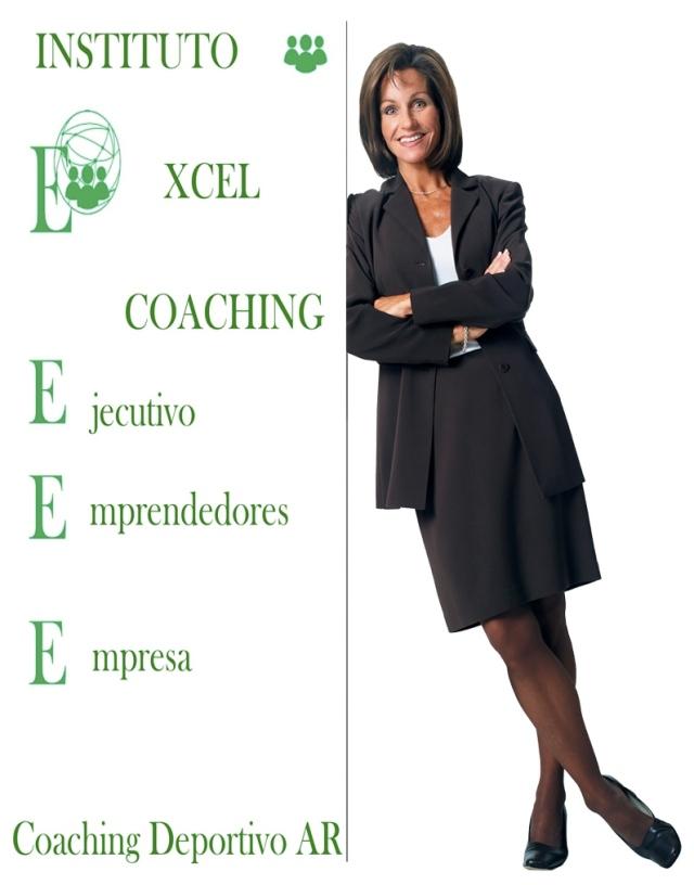 Ejecutiva apoyada coaching excel verde JPEG